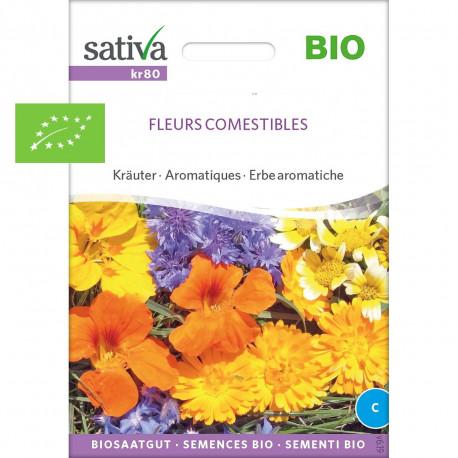 Mélange de fleurs comestibles graines bio