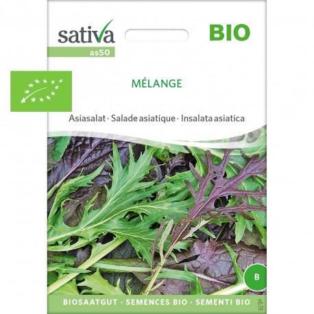 Mélange de graines bio de salades asiatiques