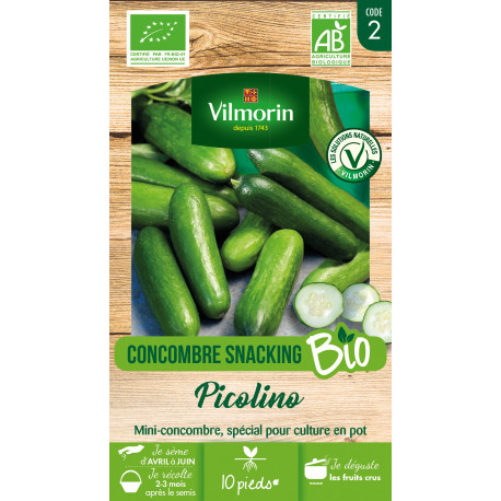 Graines bio de concombre snacking picolino