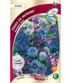 Fleurs pour bouquet bleu -...