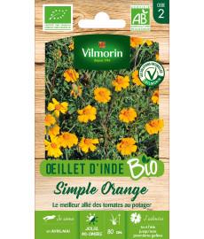 Graines bio d'oeillet d'Inde orange simple Vilmorin