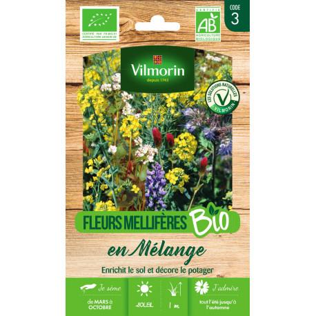 Graines bio de fleurs pour engrais vert en mélange